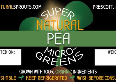 SuperNatural Sprouts-Pea Shoot Microgreens